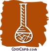 Beakers Flasks and Test Tubes Vector Clipart picture