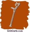 Vector Clip Art graphic  of a Crutches