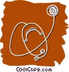 Vector Clipart picture  of a Stethoscopes