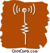 Vector Clip Art picture  of an Antennas