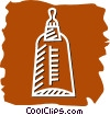Vector Clipart picture  of a Baby Bottles