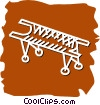 Vector Clipart picture  of a Stretchers and Hospital Beds