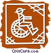 Vector Clip Art graphic  of a Wheelchairs