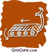 Vector Clip Art picture  of a Treadmills