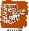 Vector Clip Art graphic  of a bank machine