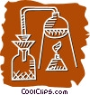 Beakers Flasks and Test Tubes Vector Clipart illustration