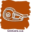 tape dispensers Vector Clipart illustration