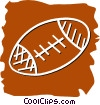 Footballs Vector Clipart graphic
