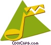 Vector Clipart picture  of a music note