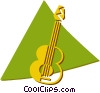 Vector Clip Art image  of a guitars