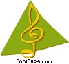 Vector Clip Art picture  of a music note