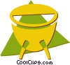 Vector Clip Art graphic  of a drum