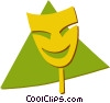 Vector Clip Art picture  of a comedy/drama masks
