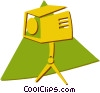 Vector Clip Art image  of a motion picture lighting