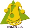 Vector Clipart image  of a court jester hat