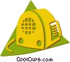 Vector Clip Art image  of a vintage radio