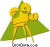 Vector Clip Art graphic  of a movie camera