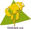 Vector Clipart graphic  of a spotlight