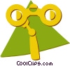 Vector Clip Art graphic  of a opera glasses