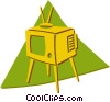 television set Vector Clip Art picture