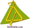 Vector Clip Art graphic  of a triangles