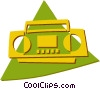 Vector Clipart illustration  of a ghetto blaster