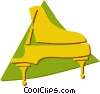Vector Clipart picture  of a grand piano