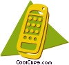 Vector Clipart image  of a remote control