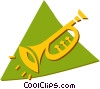 trumpet Vector Clipart graphic