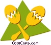 Vector Clip Art graphic  of a maracas