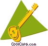 Vector Clipart picture  of a sitar