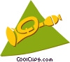 Vector Clipart illustration  of a horn