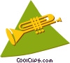 Vector Clip Art picture  of a trumpet