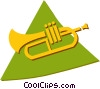 trumpet Vector Clip Art graphic