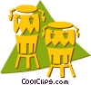 bongo drums Vector Clipart picture