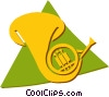French horn Vector Clipart illustration