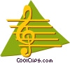 Vector Clip Art image  of a musical note