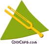 Vector Clip Art graphic  of a tuning fork