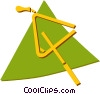 Vector Clip Art image  of a triangle