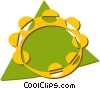 Vector Clipart picture  of a tambourine