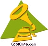 Vector Clip Art image  of a gramophone