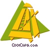 Vector Clipart graphic  of a metronome