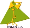Vector Clipart graphic  of a music stand