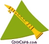 Vector Clip Art graphic  of a clarinet
