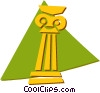 Vector Clipart graphic  of a column/pedestal