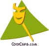 comedy/drama mask Vector Clipart picture