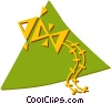 Vector Clipart graphic  of a kite