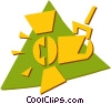 Vector Clip Art picture  of a motion picture lights