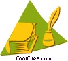 Vector Clip Art image  of a book an bottle of ink with a
