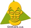 Vector Clipart graphic  of an African masks